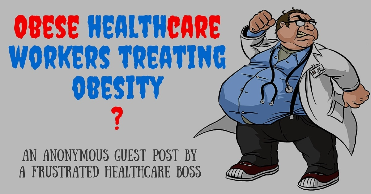 Obese healthcare workers treating obesity